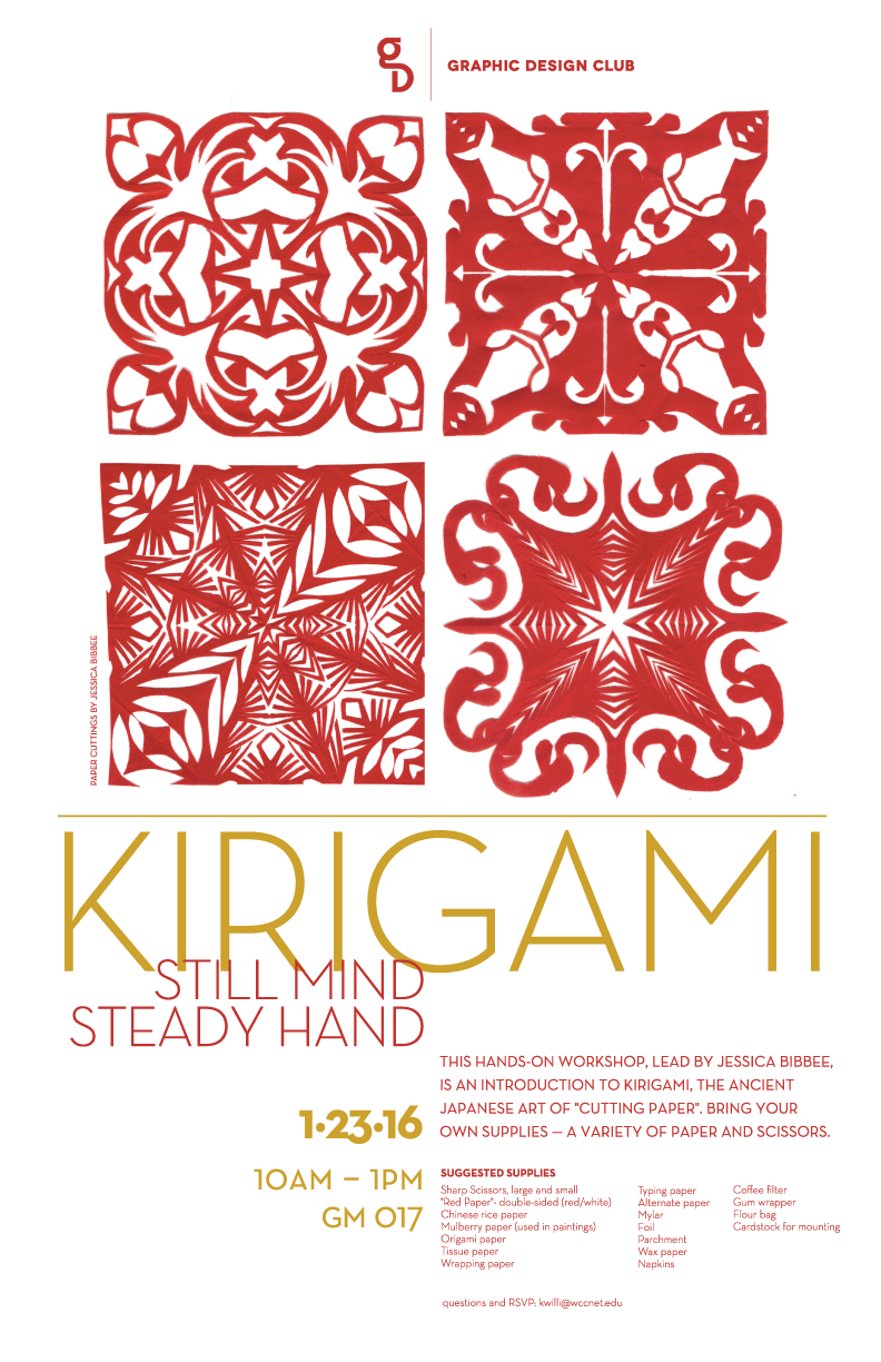 Kirigami and Workshop by Jessica Bibbee