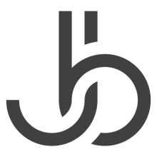 monogram of letters J and B, representing the logo for Bibbee Creative